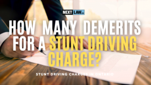 How many demerit points for a stunt driving charge in ontario?