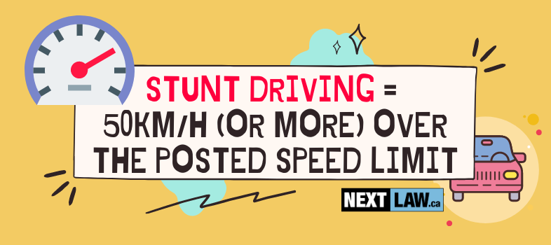 What speed is considered Stunt Driving (or Racing) in Ontario?