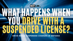 What happens when you drive with a suspended license?