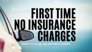 First Time No Insurance Charges in Ontario