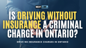 Is driving with no insurance a criminal charge in ontario?