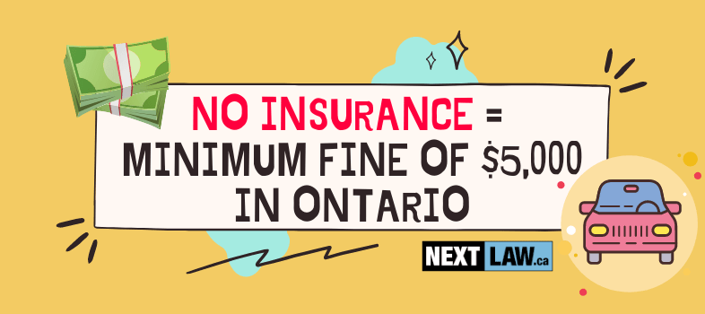 What is a Driving Without Insurance charge in Ontario?
