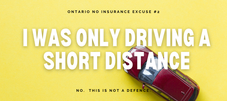 What are defences for No Insurance charges in Ontario?