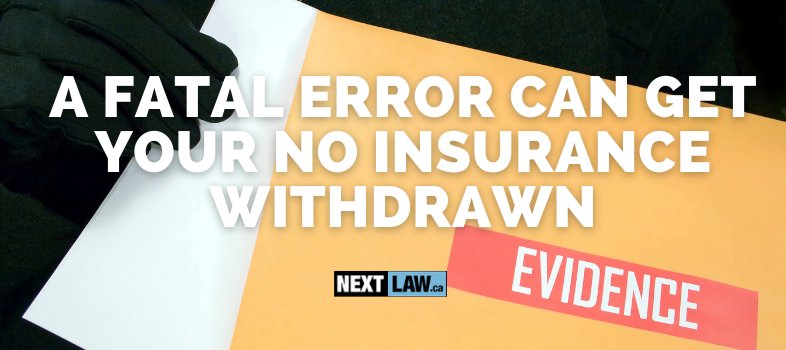 How can you beat your Driving Without Insurance charge in Ontario?