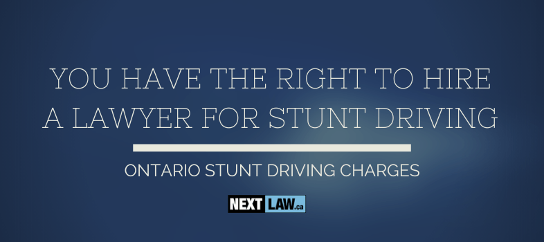 Get free advice from a lawyer for your Ontario Stunt Driving charges
