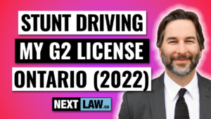 Stunt Driving charges with G2 class license in Ontario