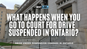 What happens when you go to court for driving on a suspended license charge in Ontario?