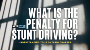 What is the penalty for Stunt Driving in Ontario?